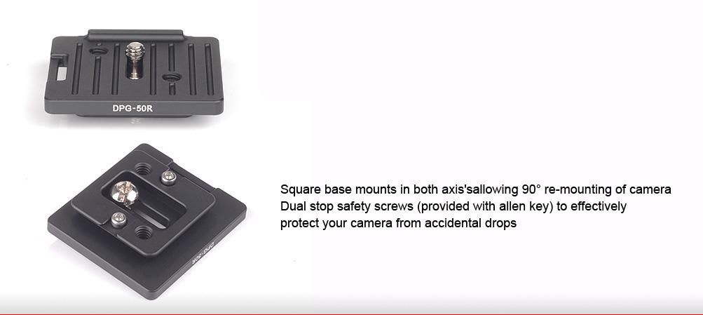 Sunwayfoto DPG-50R Universal Quick-Release Plate
