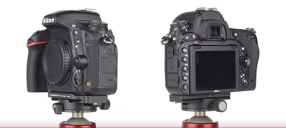 Sunwayfoto PN-D750R Custom plate for Nikon D750