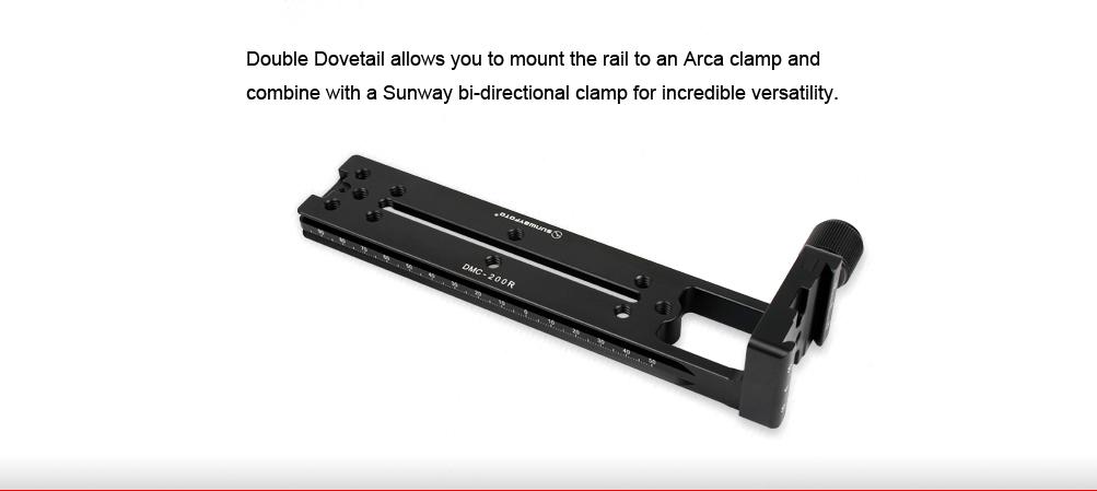Sunwayfoto DMC-200R Vertical Rail with (On-End) Clamp