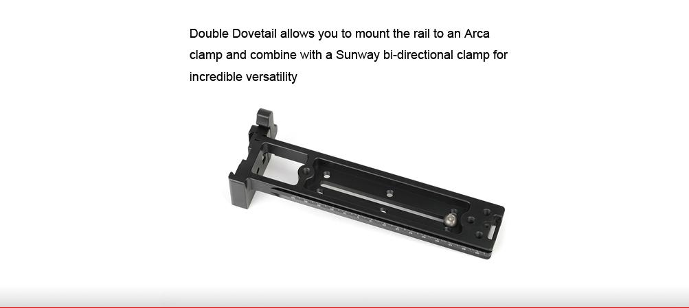 Sunwayfoto DMC-200LR Vertical Rail with (on-end) Clamp