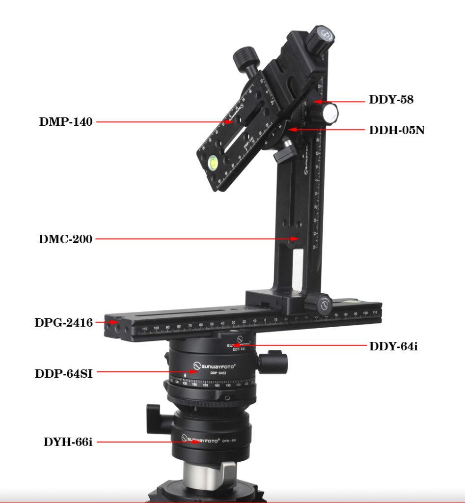 Sunwayfoto PANO-4 Professional Panoramic Head Set