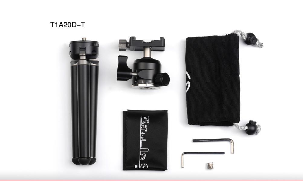 Sunwayfoto T1A20D-T Professional Mini Tripod Ballhead Combo