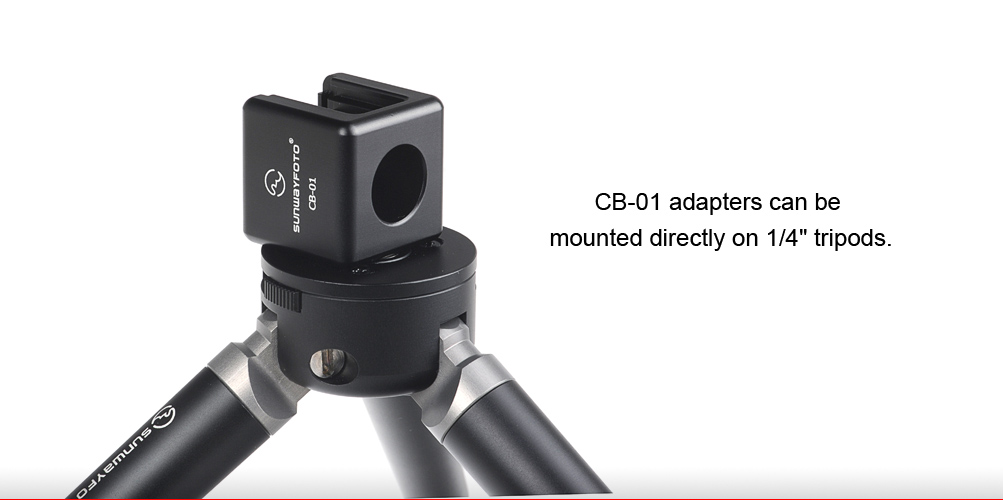 SunwayFoto CB-01 Cold Shoe Adapter with 1/4 inch Tripod Mount