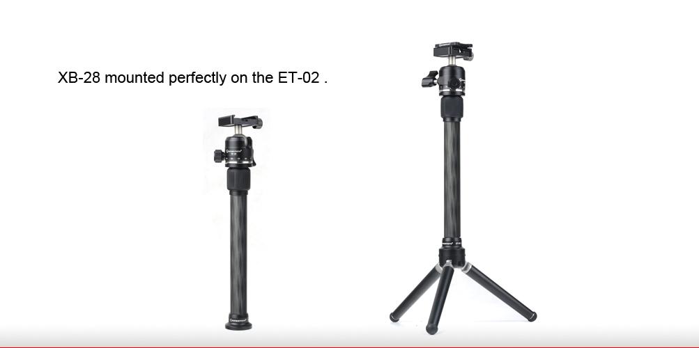Sunwayfoto ET-02 Carbon Fibre Tripod Extension