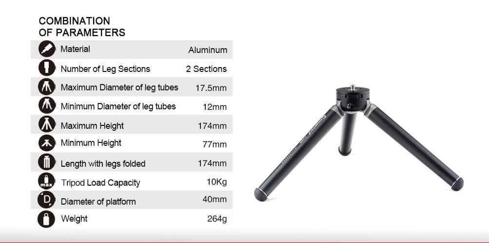 Sunwayfoto T1A20D Professional Mini Tripod