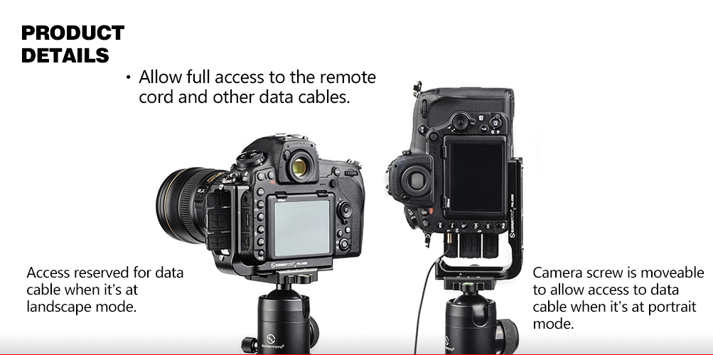 Sunwayfoto PNL-D850 Custom L Bracket for Nikon D850