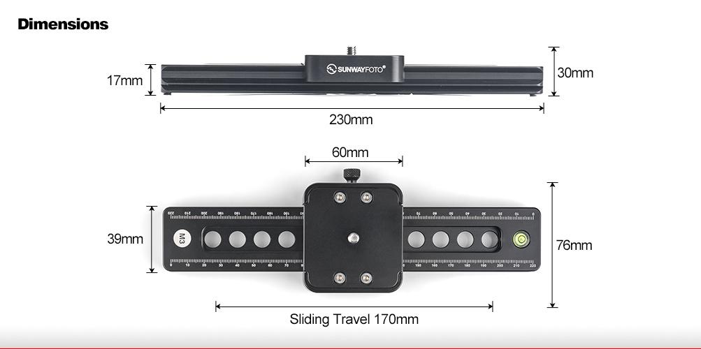 Sunwayfoto M3 Microslip Slide Rail