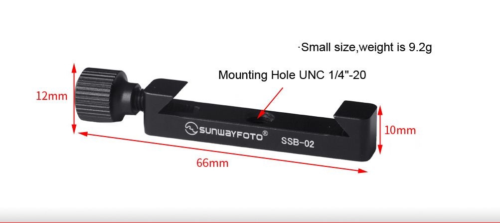 Sunwayfoto SSB-02 Index Stop Bar