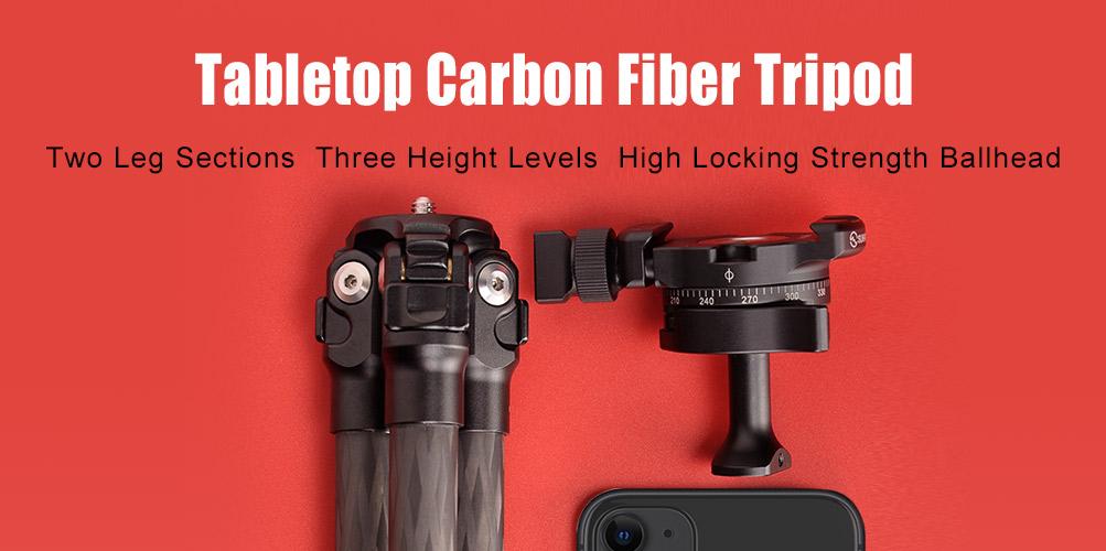 Sunwayfoto T16C20NT Tabletop Carbon Fibre Tripod with PMB-18 Ballhead