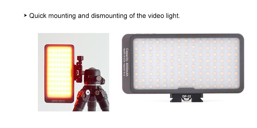 Sunwayfoto DP-12 Dedicated Video Light Mini Quick-Release Plate